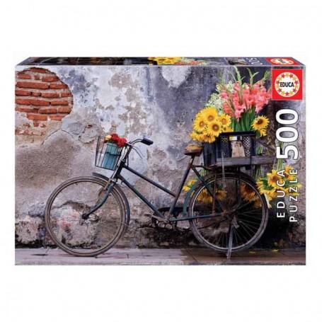 Educa - Puzzle 500 Peças: Bicicleta com Flores
