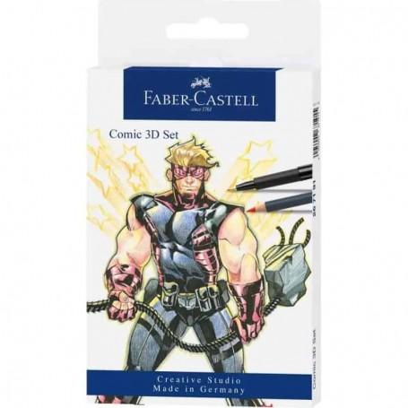 Faber-Castell Conjunto Canetas Lápis Comic 3D 267191