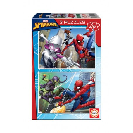 Educa Puzzle 2x48 Peças Spider-Man 18099