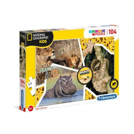 Clementoni Puzzle 104 Peças National Geographic Kids Wildlife Adventure 27143