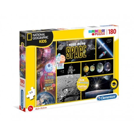Clementoni Puzzle 180 Peças National Geographic Kids Need More Space 29206
