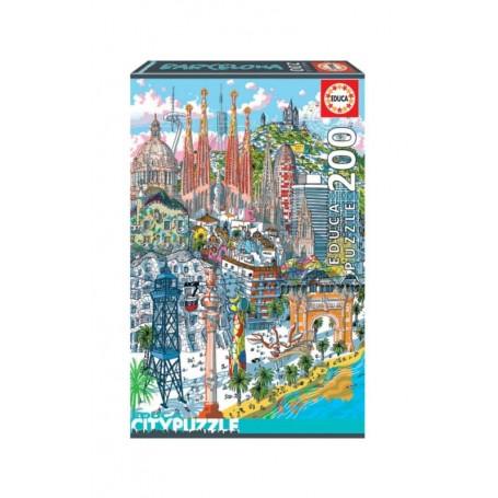 Educa City Puzzle 200 Peças Barcelona