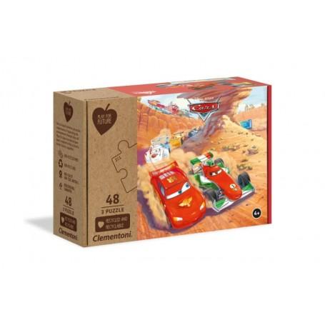 Clementoni Puzzle 48x3 Peças Carros 25254