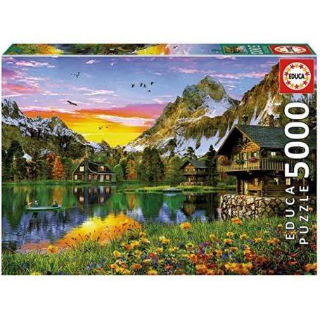 Educa - Puzzle 5000 Peças: Lago Alpino