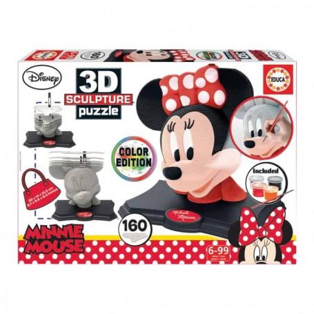 Educa - Color 3D Sculpture Puzzle Minnie