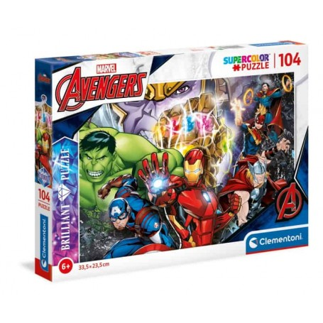 Clementoni - Puzzle 104 Peças Brilliant Marvel