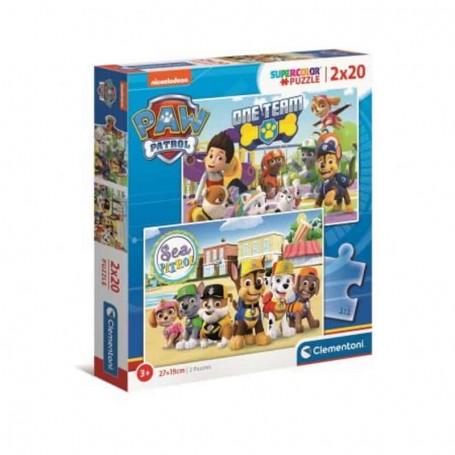 Clementoni - Puzzle 2x20 Patrulha Pata