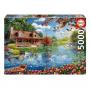 Educa - Puzzle 5000 Peças: Casinha no lago