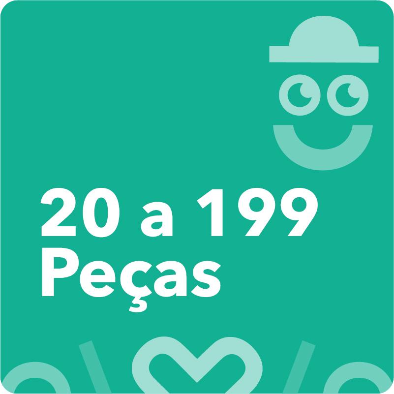 20 a 199 Peças